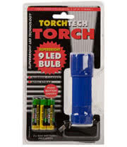 9 LED Bulb Torch with Batteries (Blue)