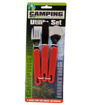 3 Piece Camping Utility Set (Red)