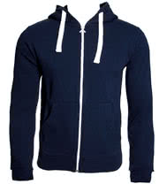 Criminal Damage Plain Skinny Fit Hoodie (Navy)