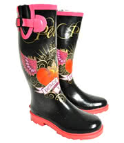 Blue Banana Peace Print Wellies