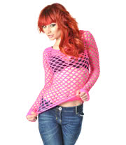 Poizen Industries Net Top (Pink)