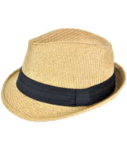 Blue Banana Straw Trilby Hat