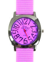 Blue Banana Round Face Watch (Purple)
