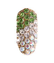 Blue Banana Nail Art Deluxe 3D Crystal (Gold/Green)