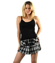 Hell Bunny Chelsea Skirt (Black/White)