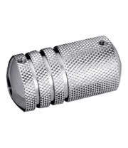 Body Shock 19mm Steel Knurled Style Grip (High Polish)