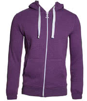 Criminal Damage Plain Skinny Fit Hoodie (New Purple)