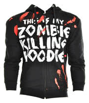 Goodie Two Sleeves Zombie Killer Print Hoodie