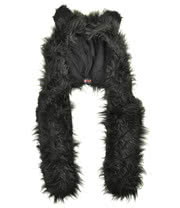 Insanity Furry Scarf Hat (Black)