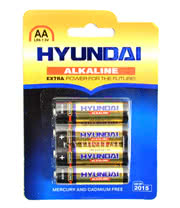 Hyundai AA Alkaline Batteries (4 Pack)