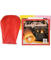 'Make A Wish' Lantern (Red)
