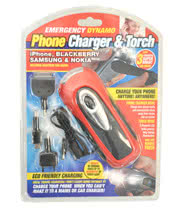 Phone Charger & Dynamo 3 LED Bulb Torch Kit (Red)