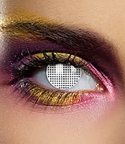 EDIT 90 Day Mesh Coloured Contact Lenses (White)