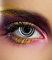 EDIT 90 Day Spiral Coloured Contact Lenses (Black)