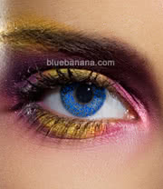 Edit Glimmer 90 Day Coloured Contact Lenses (Blue) Pair