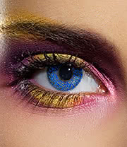 EDIT 90 Day Glimmer Coloured Contact Lenses (Blue)