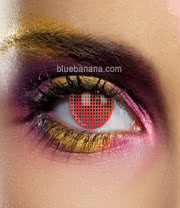 Edit Mesh 90 Day Coloured Contact Lenses (Red) Pair