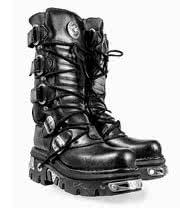New Rock Boots Style 474 (Black/Silver)