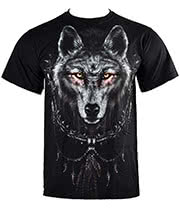 Spiral Direct Wolf Dreams T Shirt (Black)