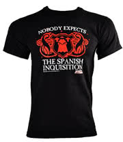 Monty Python Spanish Inquisition T Shirt (Black)