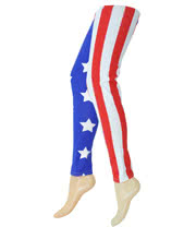 Insanity Stars & Stripes Leggings (Red/Blue)