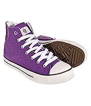 Bleeding Heart Canvas Hi Top Boots (Purple)