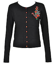 Banned Anchor Cardigan (Black)