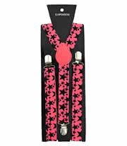 Blue Banana Stars Braces (Pink/Black)