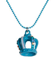 Blue Banana Crown Necklace (Blue)