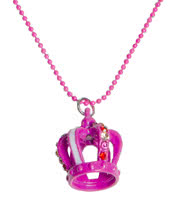 Blue Banana Crown Necklace (Pink)