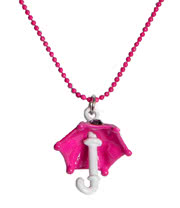 Blue Banana Umbrella Necklace (Pink)