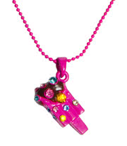 Blue Banana Ice Lolly Gem Necklace (Pink)