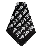 Blue Banana Skull & Cross Bones Bandana (Black)