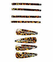Blue Banana Hair Clip Set (Leopard)