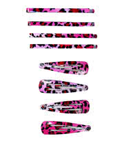Blue Banana Hair Clip Set (Pink Leopard)