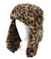 Blue Banana Furry Leopard Hat (Brown)