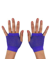 Blue Banana Short Net Gloves (Purple)