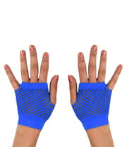 Blue Banana Short UV Net Gloves (Blue)