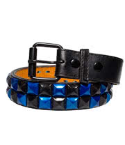Blue Banana 2 Row Studded Belt (Blue)