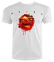 Alien Chest Burster T Shirt (White)