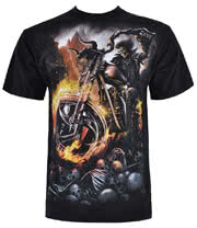 Spiral Direct Wheels Of Fire T Shirt (Black)