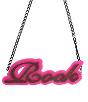 Blue Banana Rock Necklace (Pink)