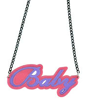 Blue Banana Baby Necklace (Pink)