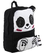 Banned Panda Backpack With Speakers (Black/White)