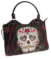 Banned Sugar Skull Tote Bag (Black)