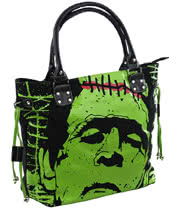 Banned Frankie Handbag (Black/Green)