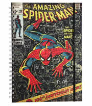 Marvel Comics A4 Notebook (Black)