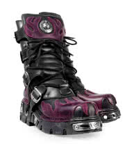 New Rock Boots Style 591 Boots (Black/Purple)