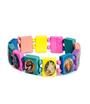Blue Banana Coloured Wood Icon Bracelet