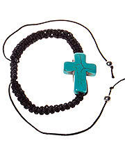 Blue Banana String Cross Bracelet (Blue)